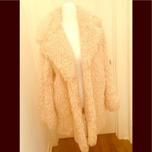 Faux fur Free People coat size small/petite